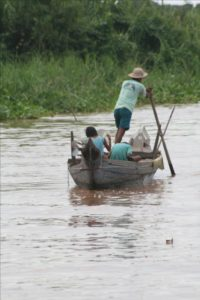 Cambodian Mekong river