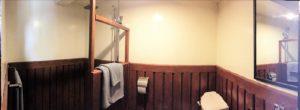 Bathroom back cabin
