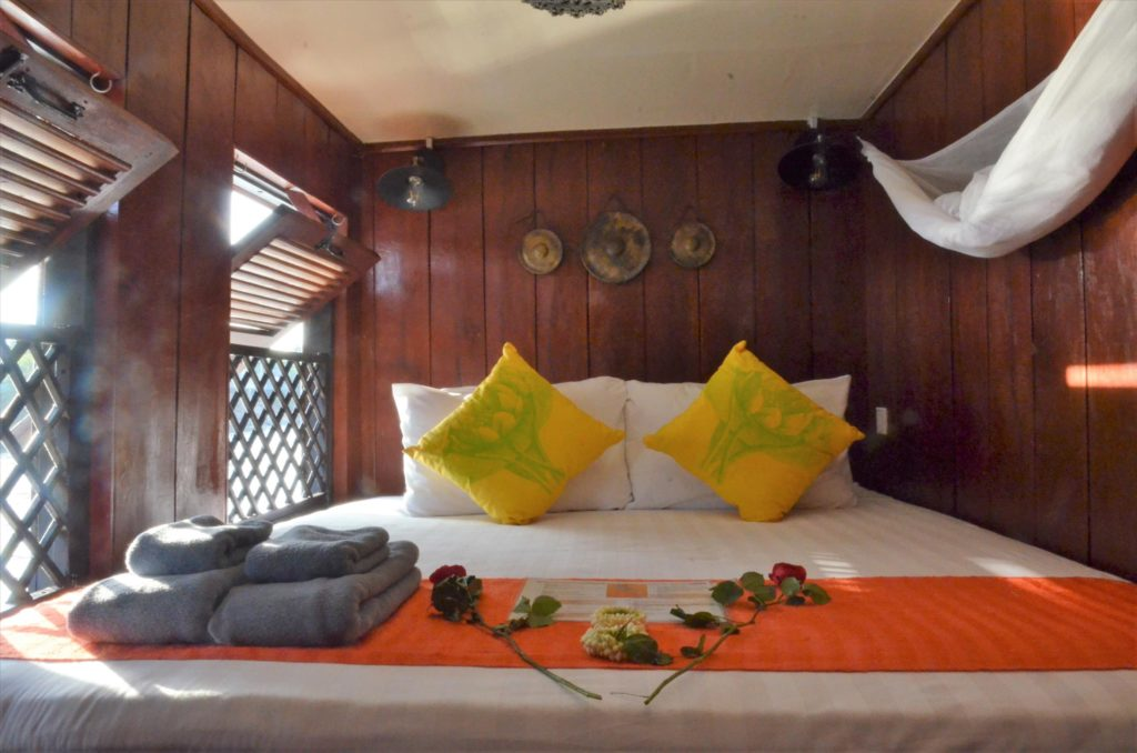 Front cabin Sat Toung - Cambodian cruises