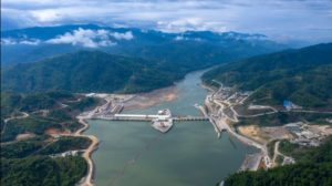 Xayaburi dams in Laos on the Mekong river
