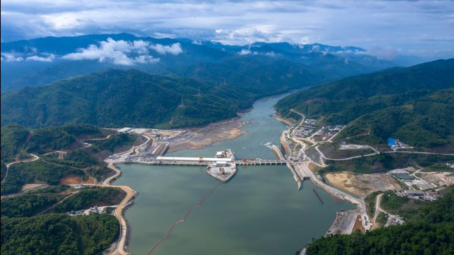 Xayaburi dams in Laos on the Mekong river