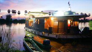 Croisière sur le Mekong - Sat Toung au mouillage